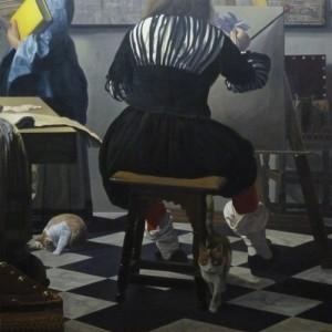 《フェルメールの絵に忍び込んだ猫・画室》