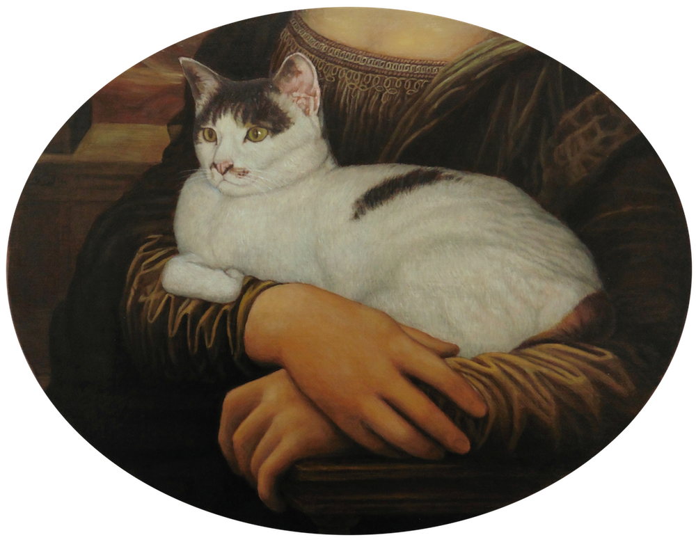 《世界一有名な婦人に抱かれた猫》