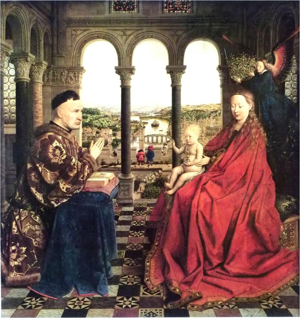 《ニコラ・ロランの聖母》ヤン・ヴァン・エイク