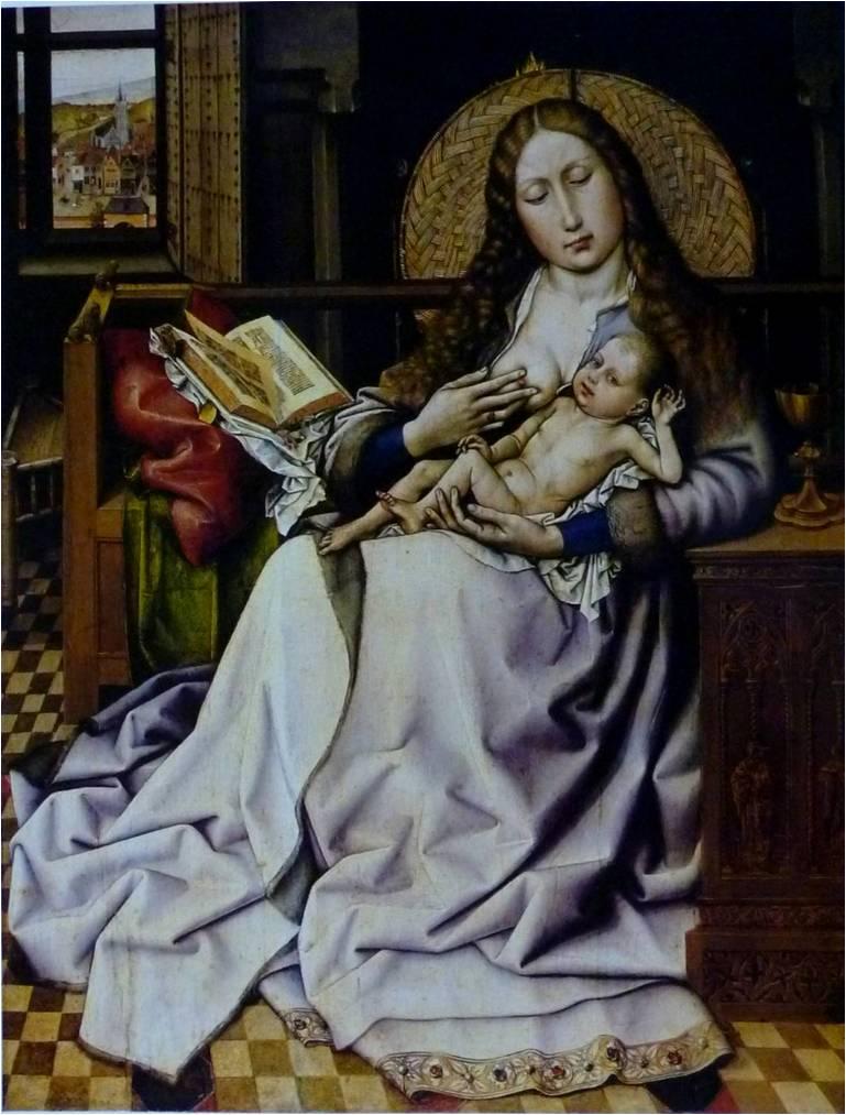 カンパン《炉端の聖母》1420~25年