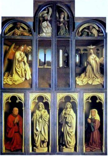 『ゲントの祭壇画』外面1432年