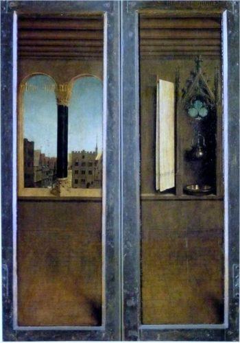 《ゲントの祭壇画・外面》1432年