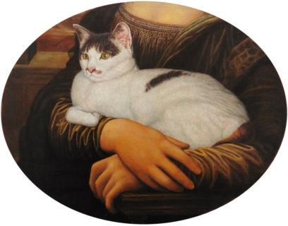 「世界一有名な婦人に抱かれた猫」